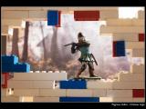 PAGNEUX Gilles - Expo 2018 - Papier 3 - Château Lego