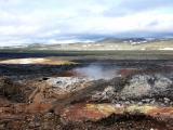 HOELLINGER Sabine - Expo 2017 - Projection 1 - Champ de lave au pied du volcan Krafla (Islande)
