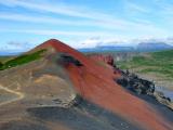 HOELLINGER Sabine - Expo 2017 - Projection 5 - En rouge et noir, dôme volcanique Rauðhólar (Islande)