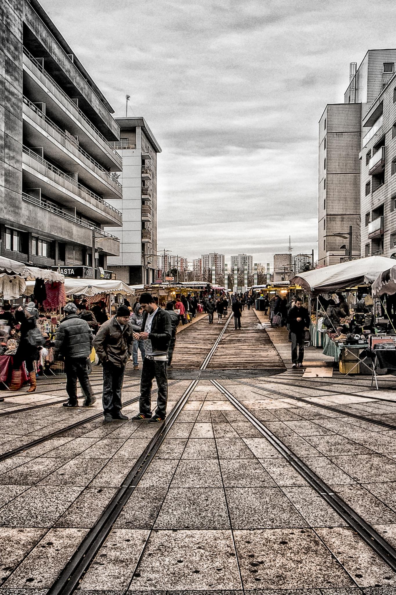 MARSALA Jean-Marc - Expo 2017 - Papier 2 - Marché parisien