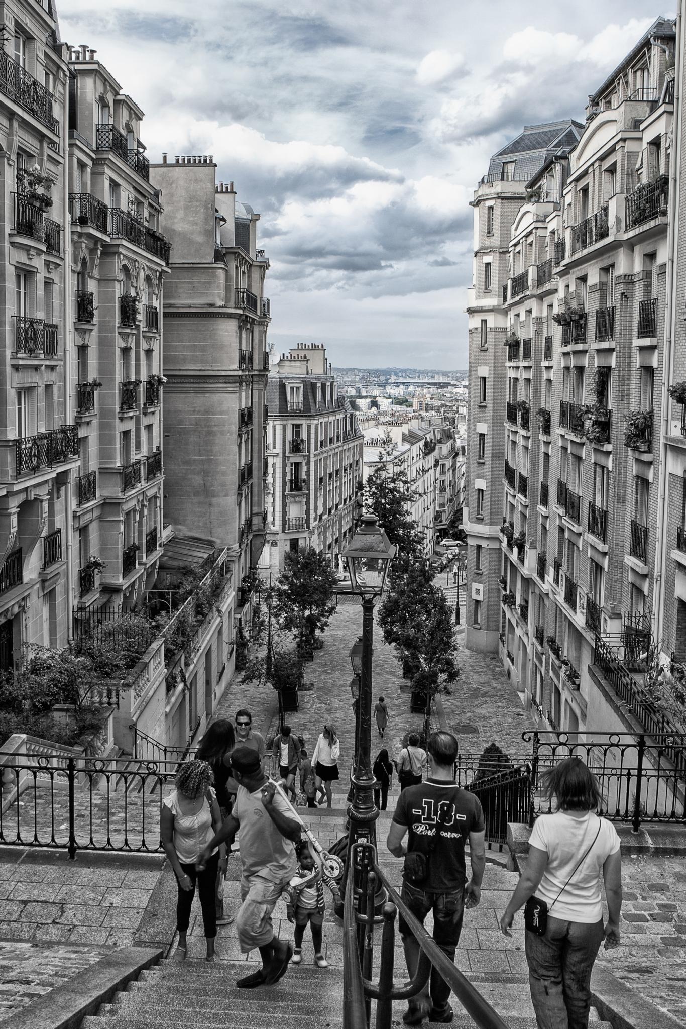 MARSALA Jean-Marc - Expo 2017 - Papier 3 - Promenade parisienne