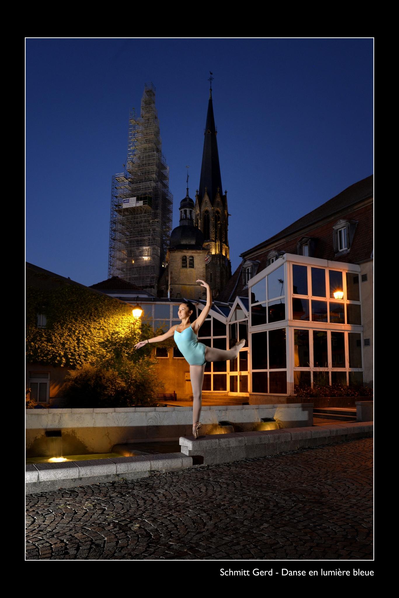 SCHMITT Gerd - Expo 2018 - Papier 1 - Danse en lumiere bleue