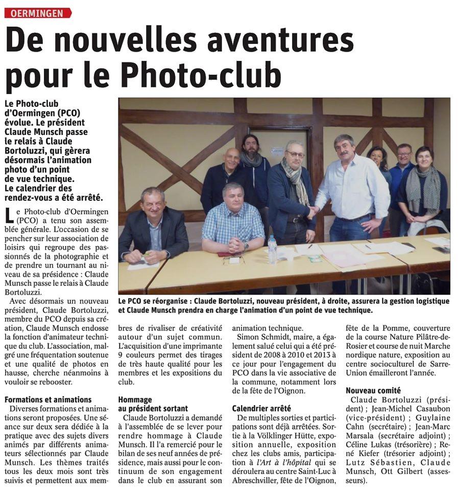 Article RL - 13 mars 2020 - De nouvelles aventures pour le Photo-Club